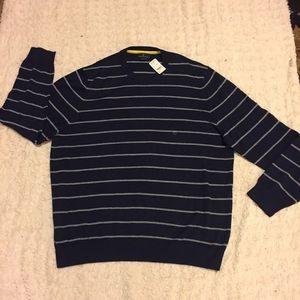 NWT Brooks Brothers Navy Striped Sweater Size XXL